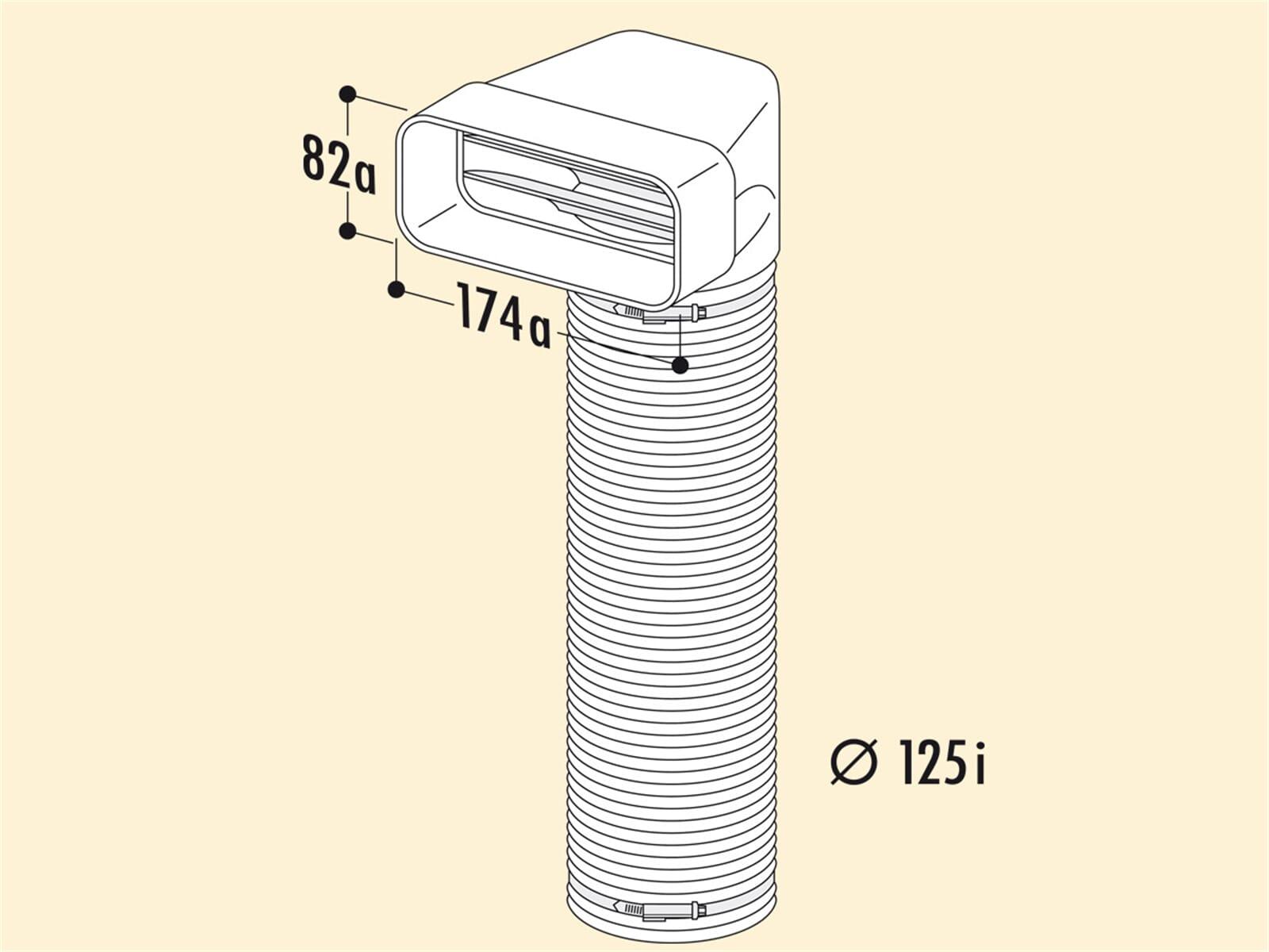Compair 403.3.007 MF-URX Umlenkstück 90° mit Flexschlauch