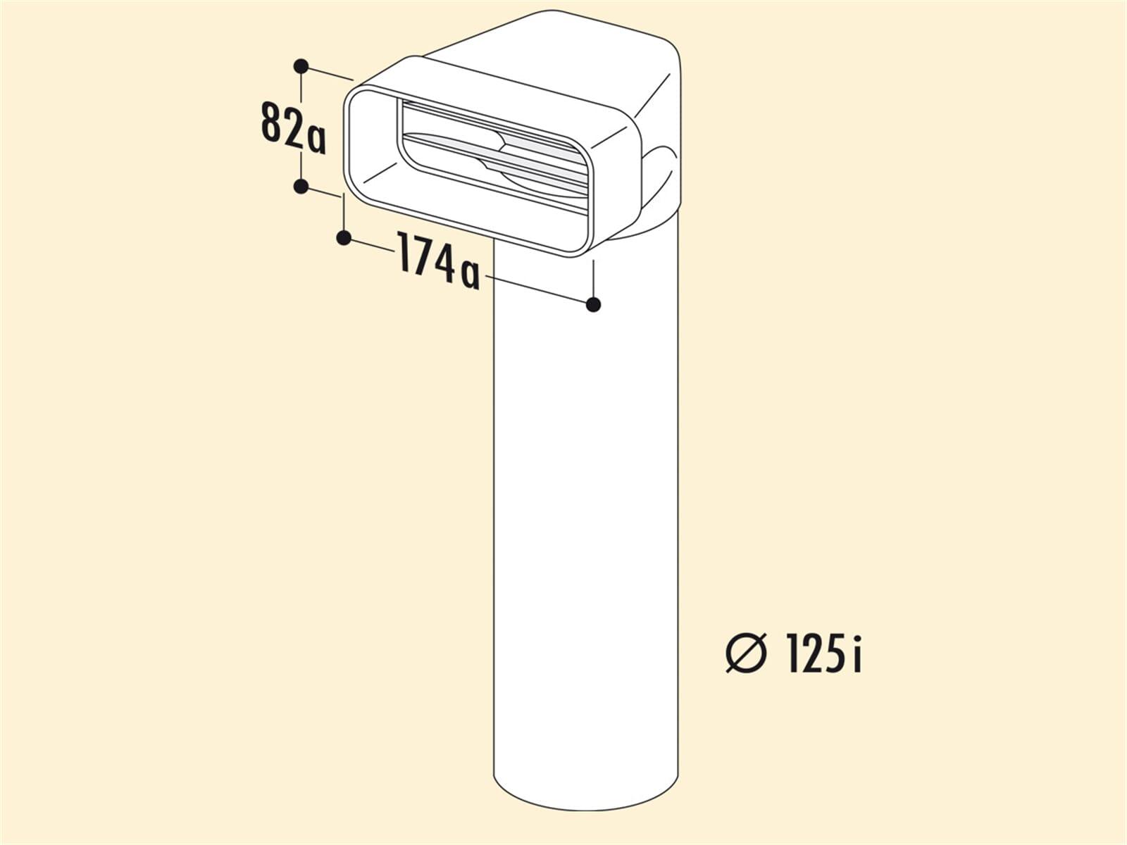 Compair 403.3.008 MF-UR Umlenkstück 90° mit Rundrohr
