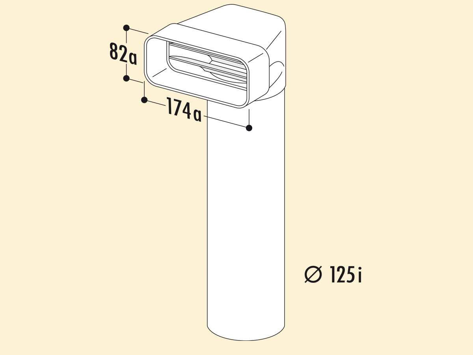 Compair 403.3.009 MF-UR Umlenkstück 90° mit Rundrohr