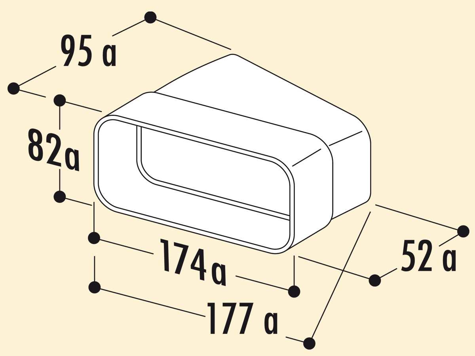 Compair 403.3.012 MF-RBH 15 Rohrbogen horizontal 15°