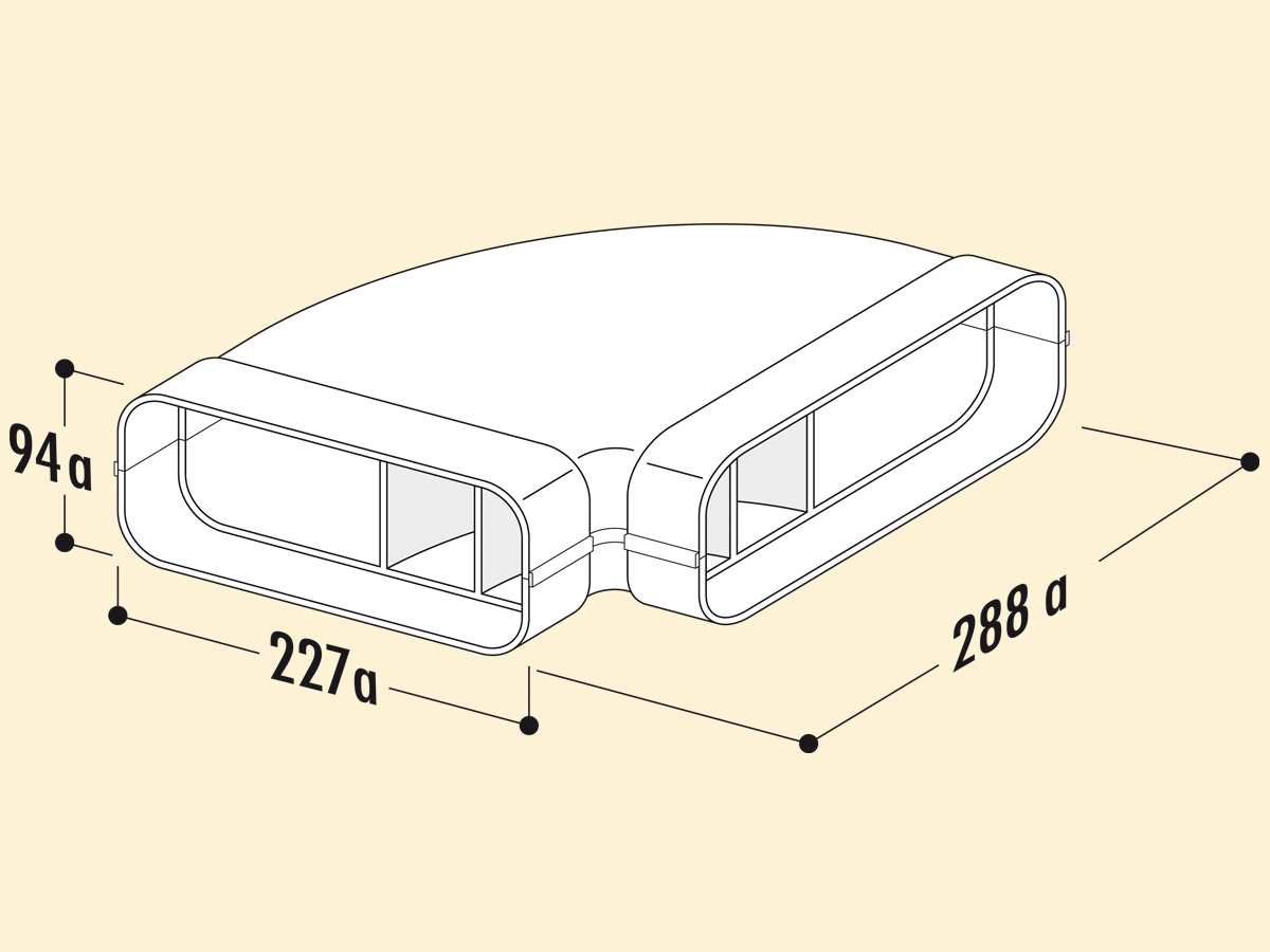 Compair 404.3.003 F-RBH 90 Rohrbogen horizontal 90°