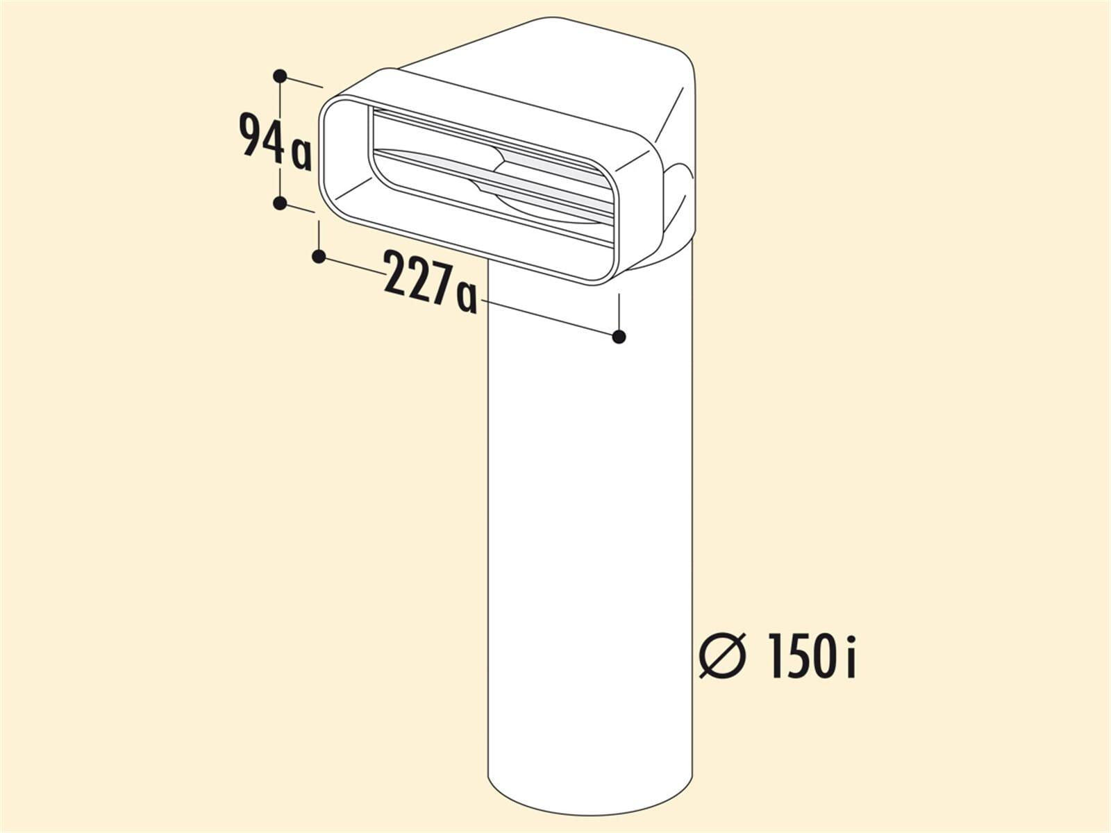 Compair 404.3.013 F-UR Umlenkstück 90° mit Rundrohr