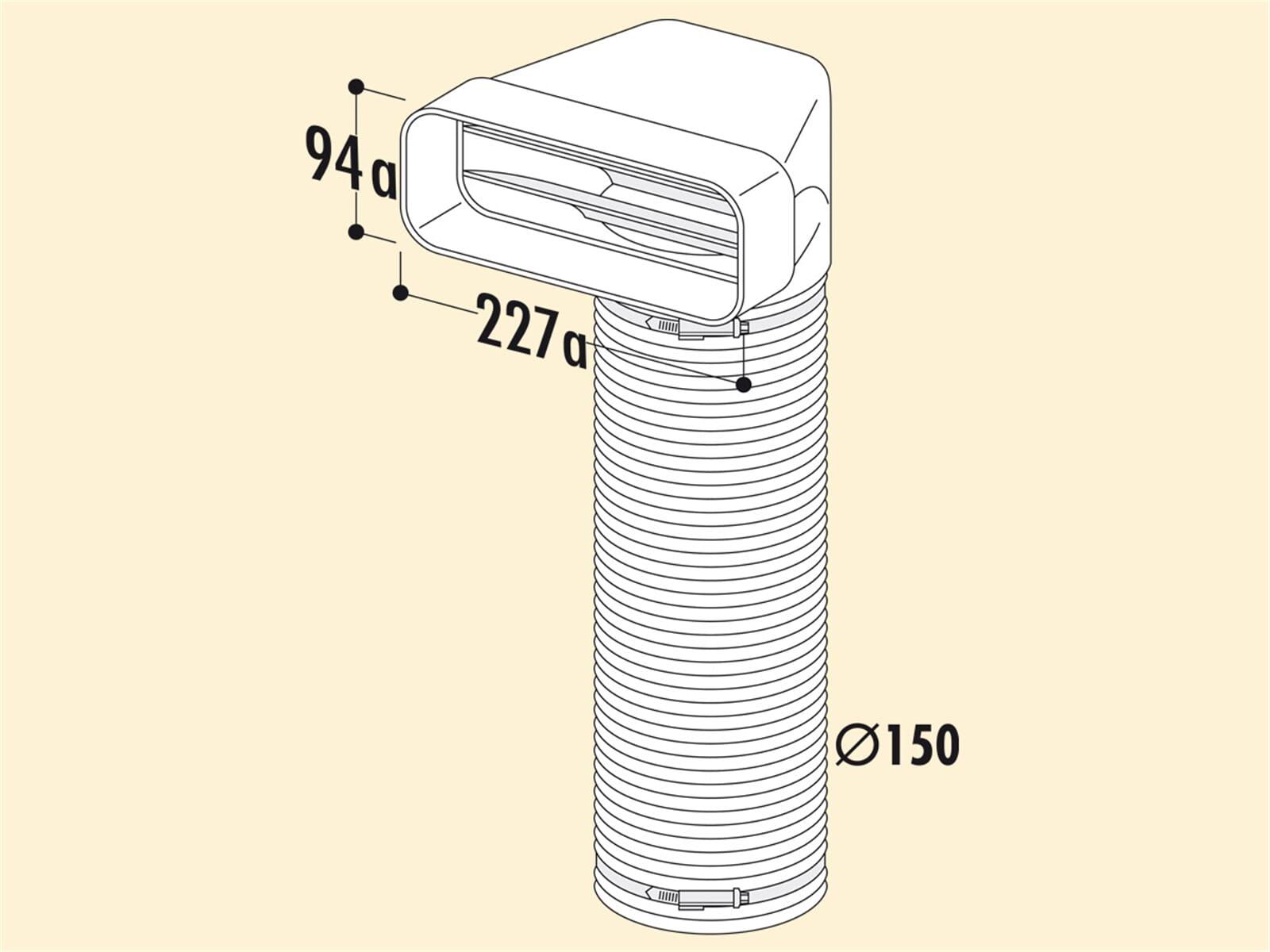 Compair 404.3.015 F-URX Umlenkstück 90° mit Flexschlauch
