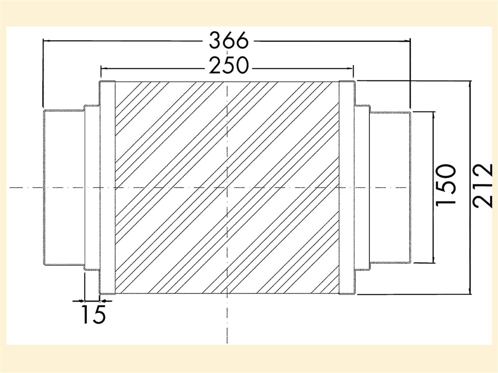 Compair 404.3.029 Schalldämpfer Aluminium 150
