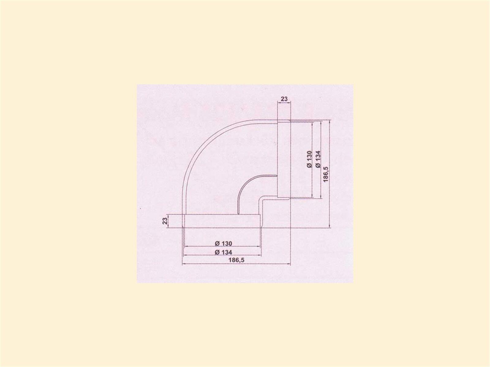 Compair 405.2.014 R-RBV Flow Rohrbogen 90°