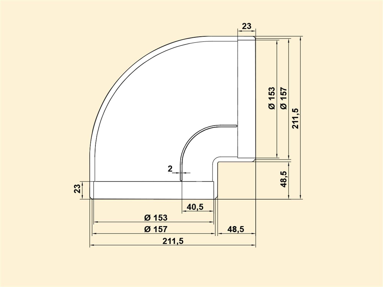 Compair 405.2.015 R-RBV Flow Rohrbogen 90°