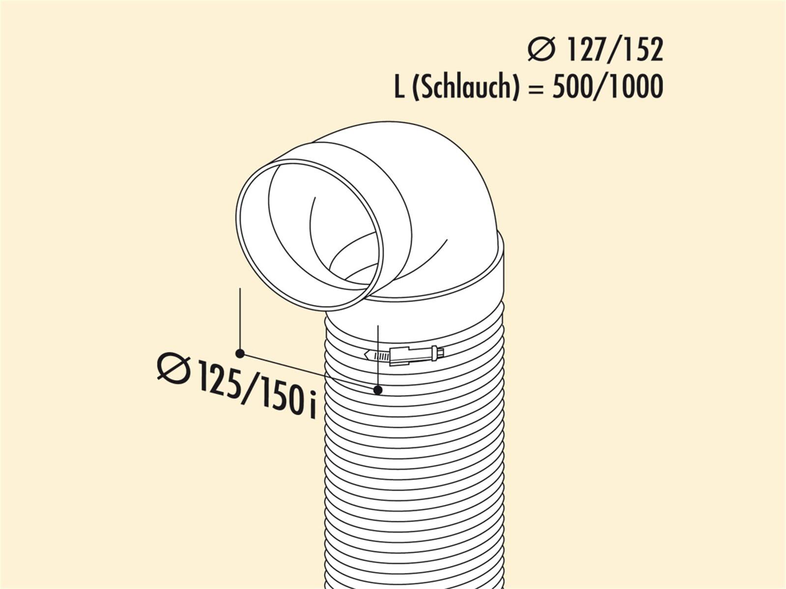 Compair 405.2.018 R-URX Flow Umlenkstück 90° mit Flexschlauch