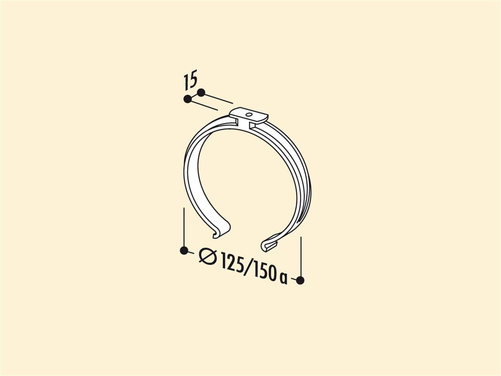 Compair 405.2.110 R-SKLEMM Rundkanalhalterung