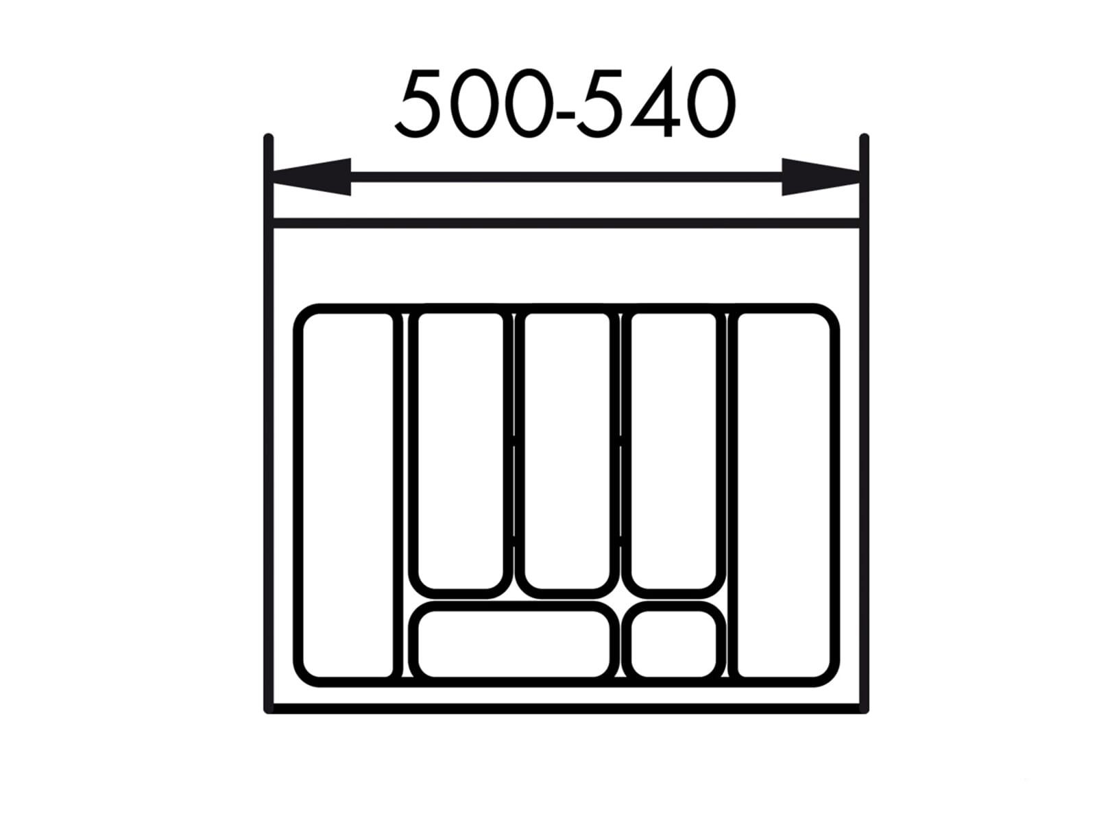 Naber 803.4.124 Besteckeinsatz 2 60er Breite