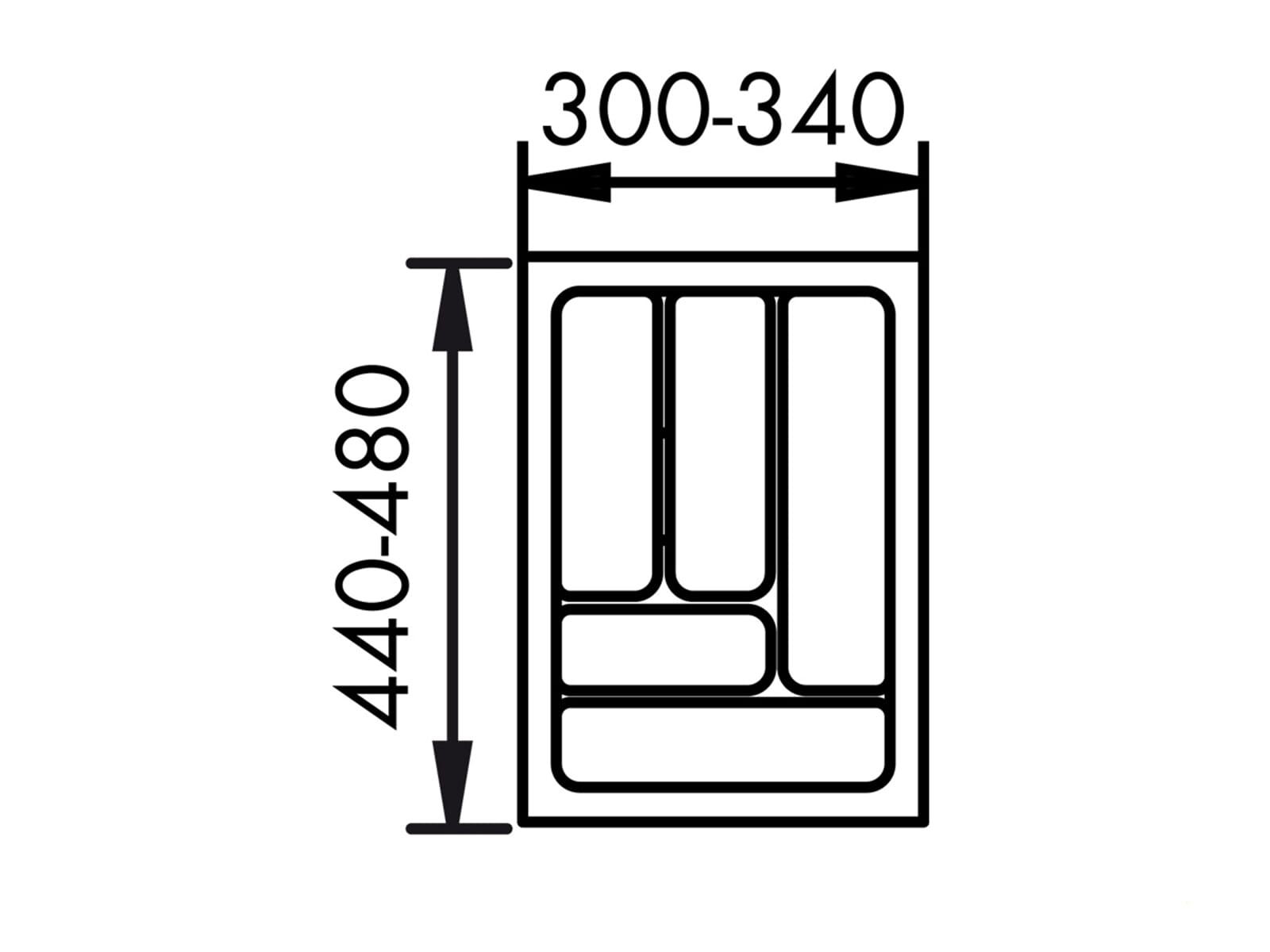 Naber 803.4.125 Besteckeinsatz 1 40er Breite