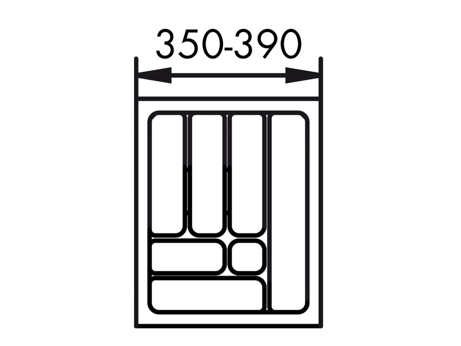 Naber 803.4.126 Besteckeinsatz 1 45er Breite