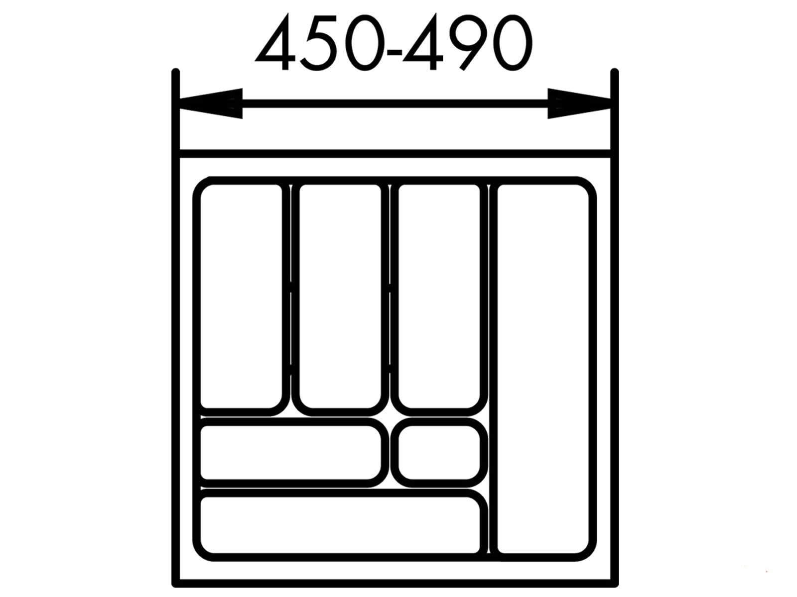 Naber 803.4.128 Besteckeinsatz 1 55er Breite