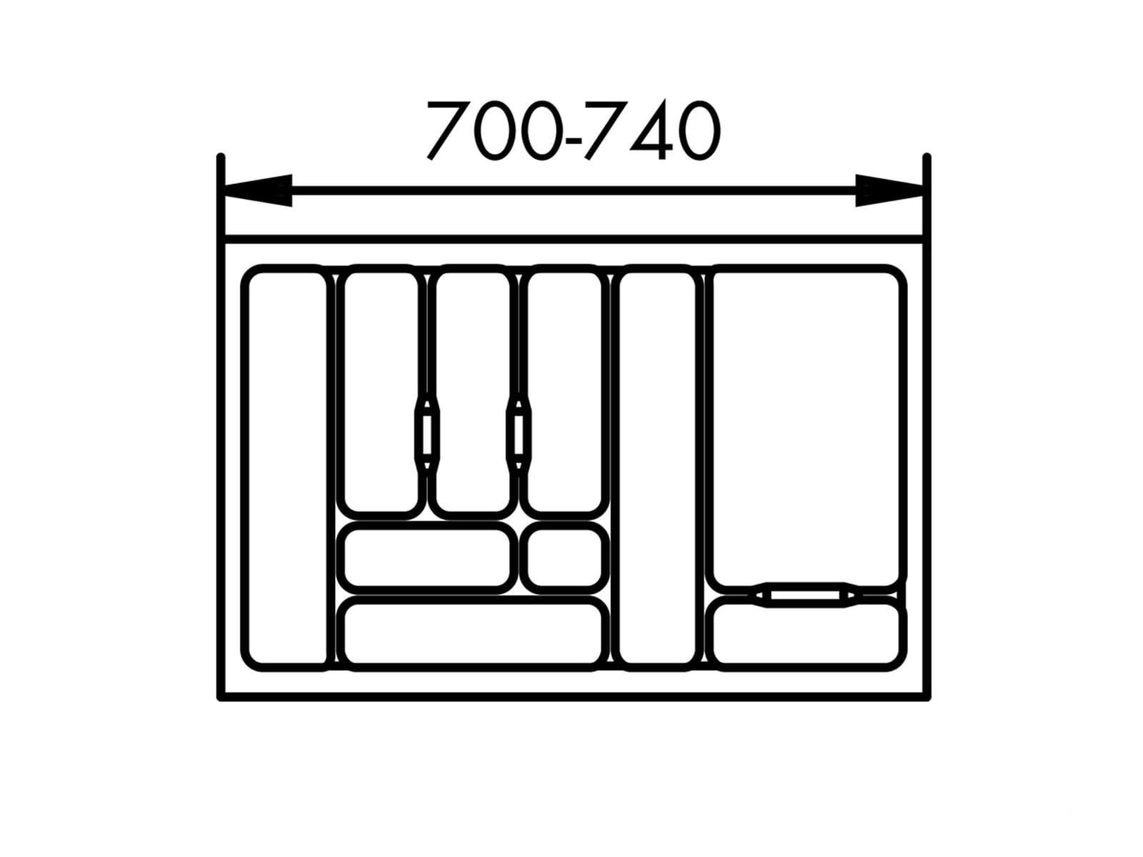 Naber 803.4.130 Besteckeinsatz 1 80er Breite