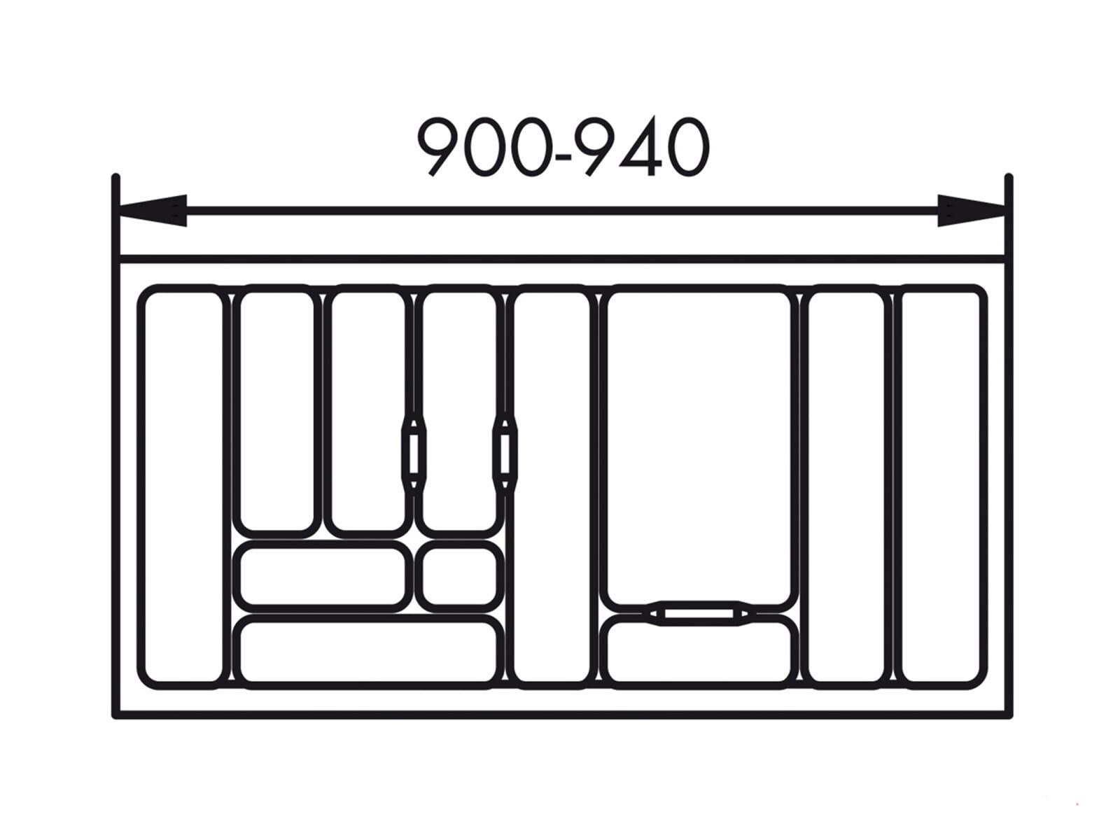 Naber 803.4.132 Besteckeinsatz 1 100er Breite