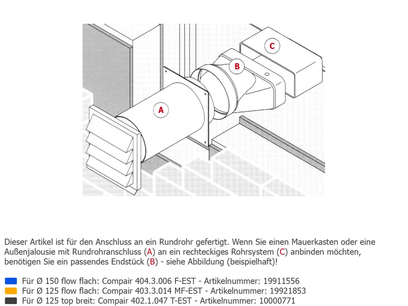 Compair 404.3.021 Flow 150 Dachlüfter