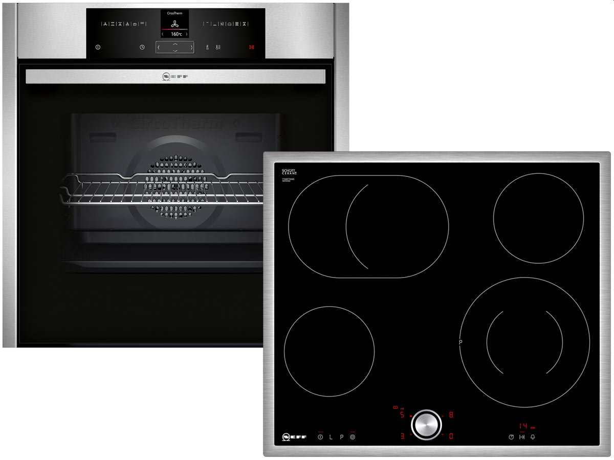 Neff Basic 6011 Set Backofen BCR 1522 N + Glaskeramikkochfeld TBT 1676 N