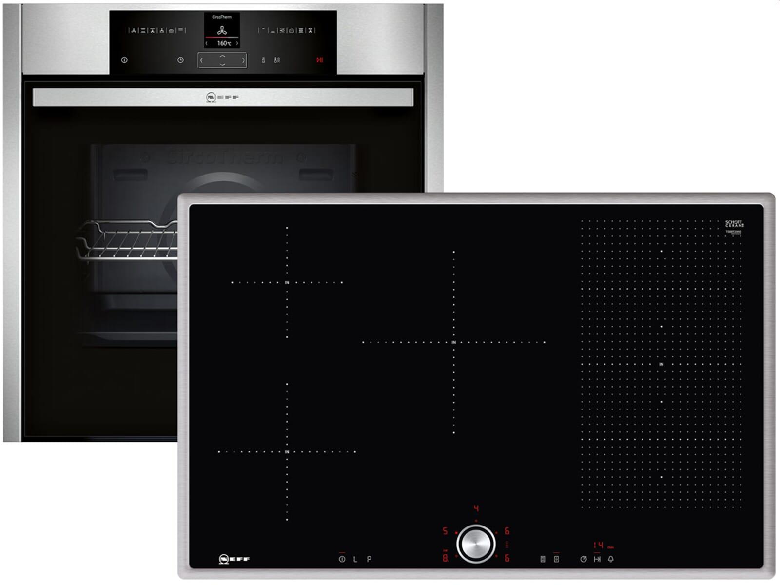 neff basic 8013 set backofen bcr 1522 n induktionskochfeld tbt 5820 n. Black Bedroom Furniture Sets. Home Design Ideas