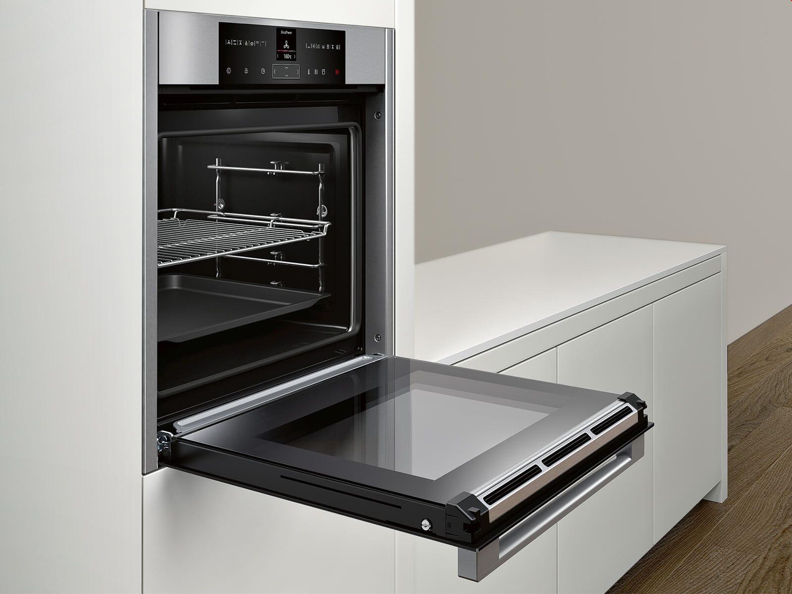 neff bvr2522n pyrolyse backofen edelstahl. Black Bedroom Furniture Sets. Home Design Ideas