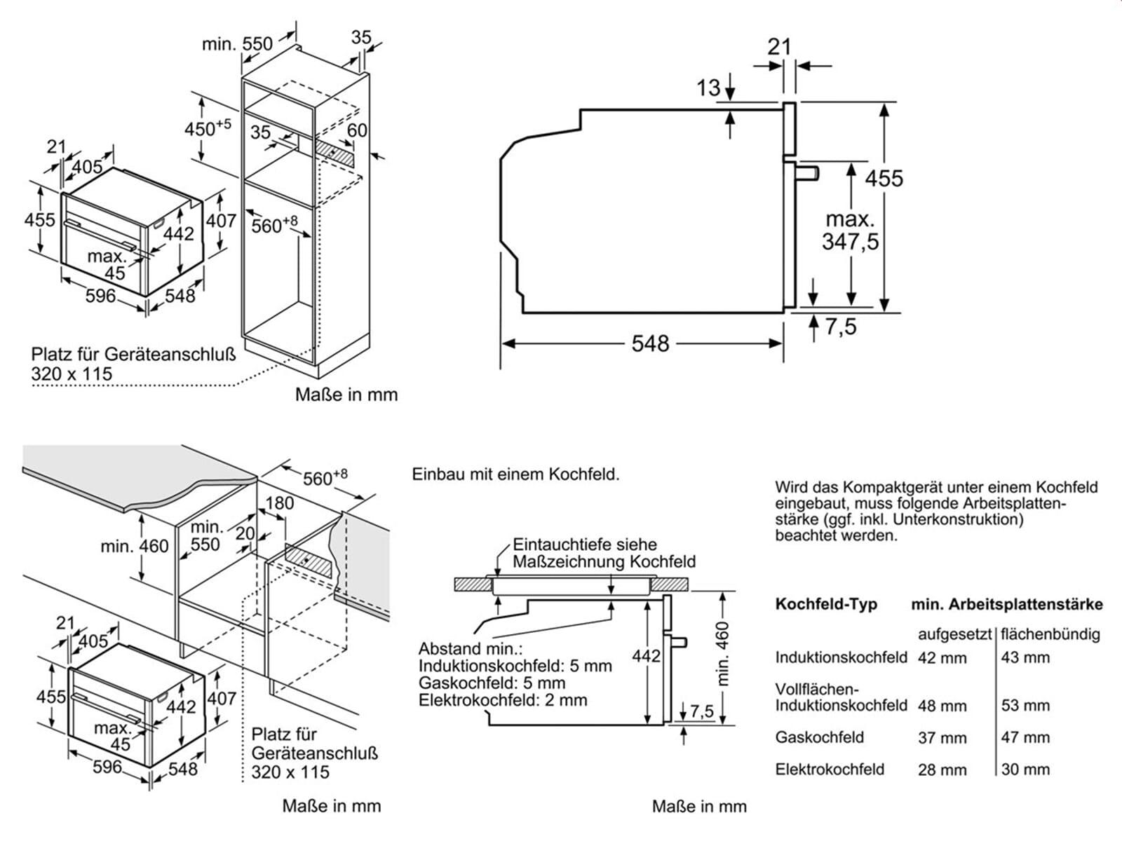 Neff CMR 1502 N Kompakt Backofen mit Mikrowelle Edelstahl