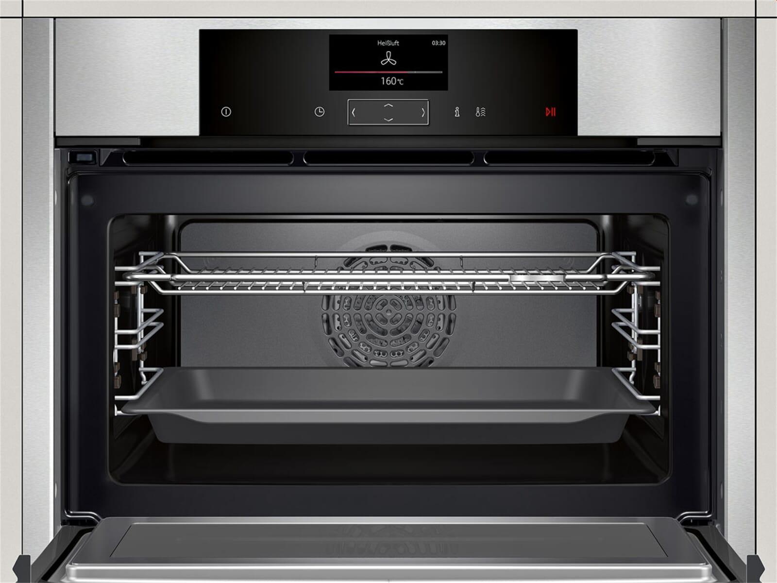 neff cms 1522 n kompakt backofen mit mikrowelle edelstahl. Black Bedroom Furniture Sets. Home Design Ideas