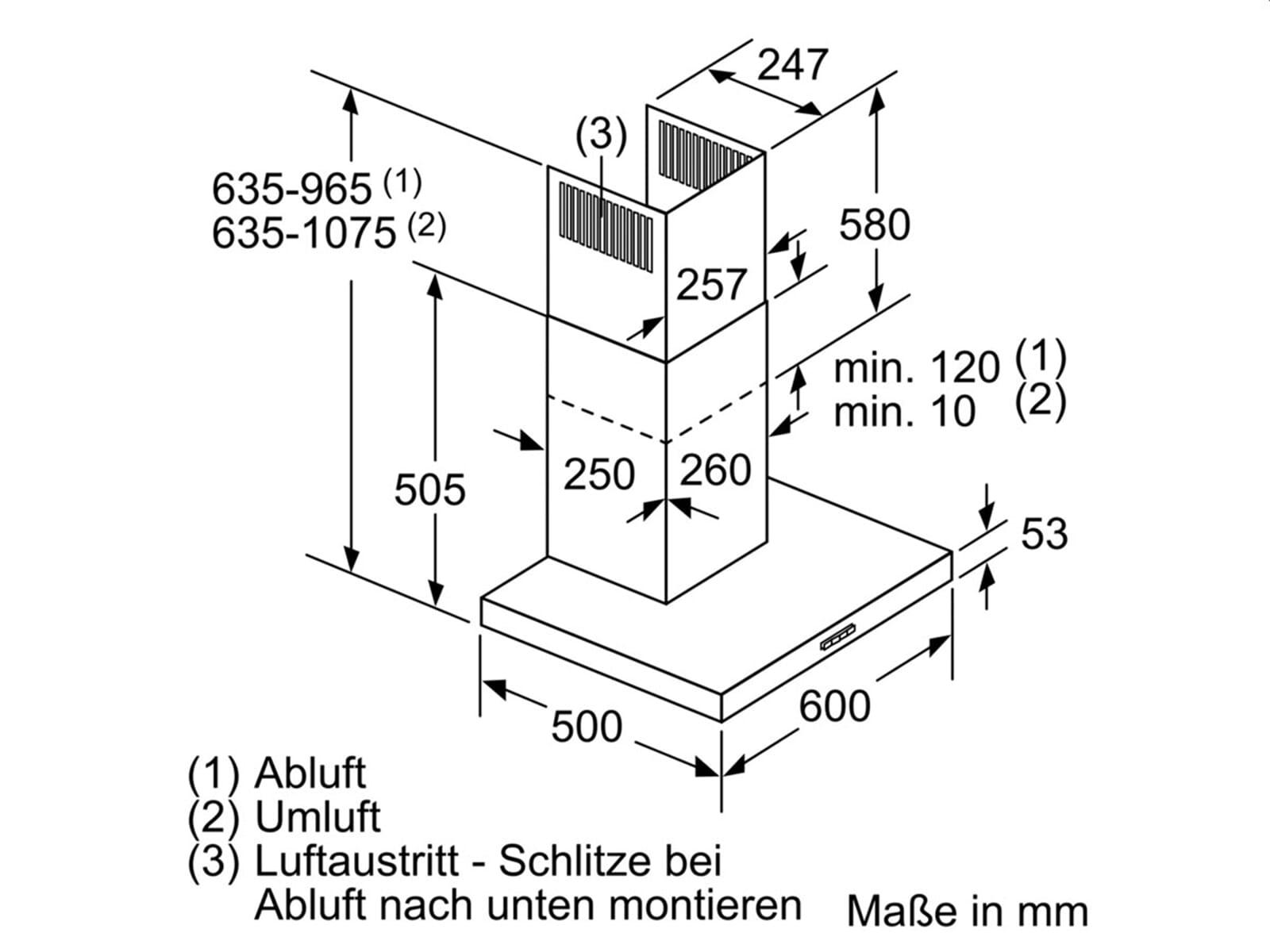 Neff DBBE641N Wandhaube Edelstahl