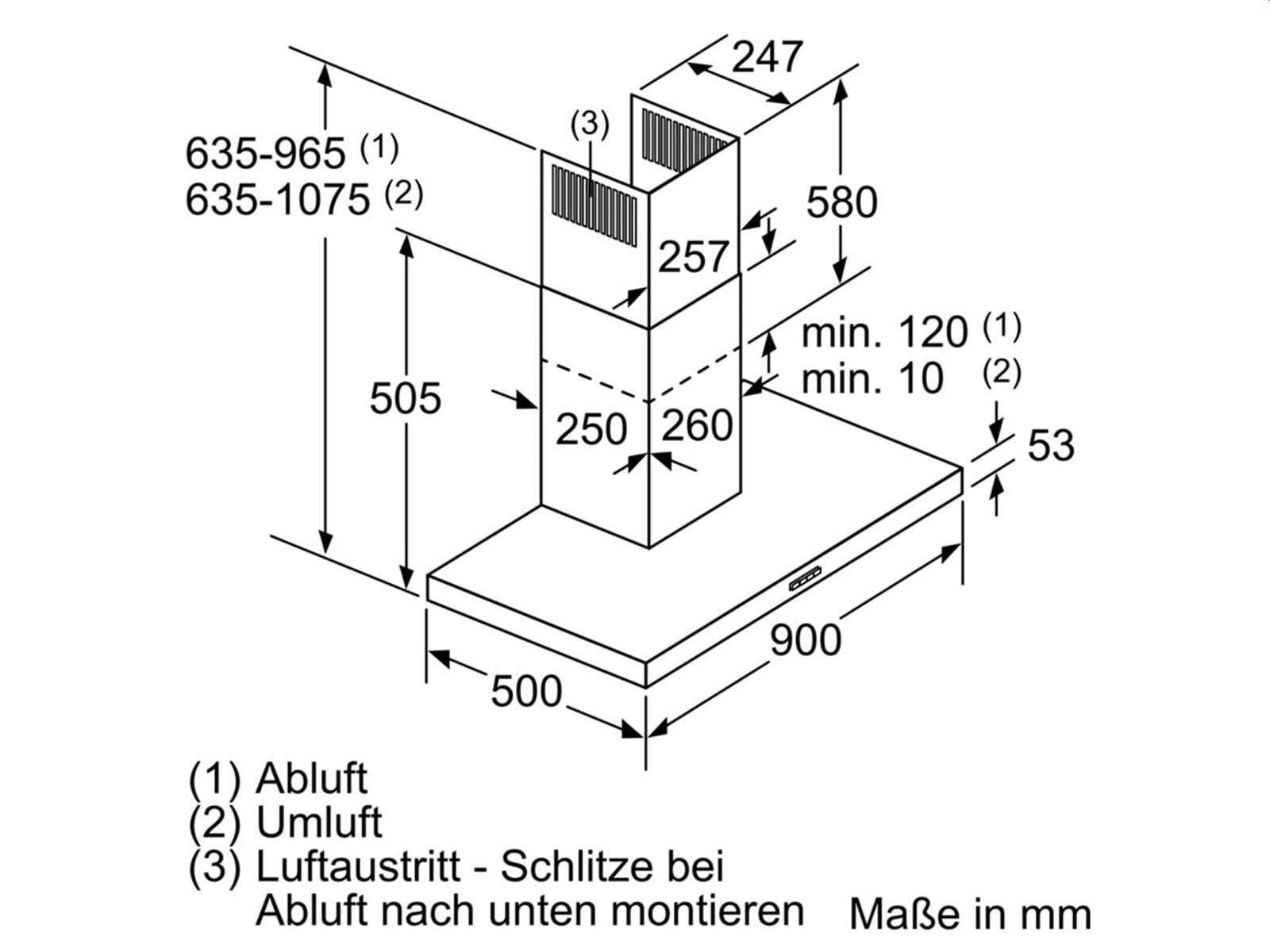 Neff DBEM954N Wandhaube Edelstahl