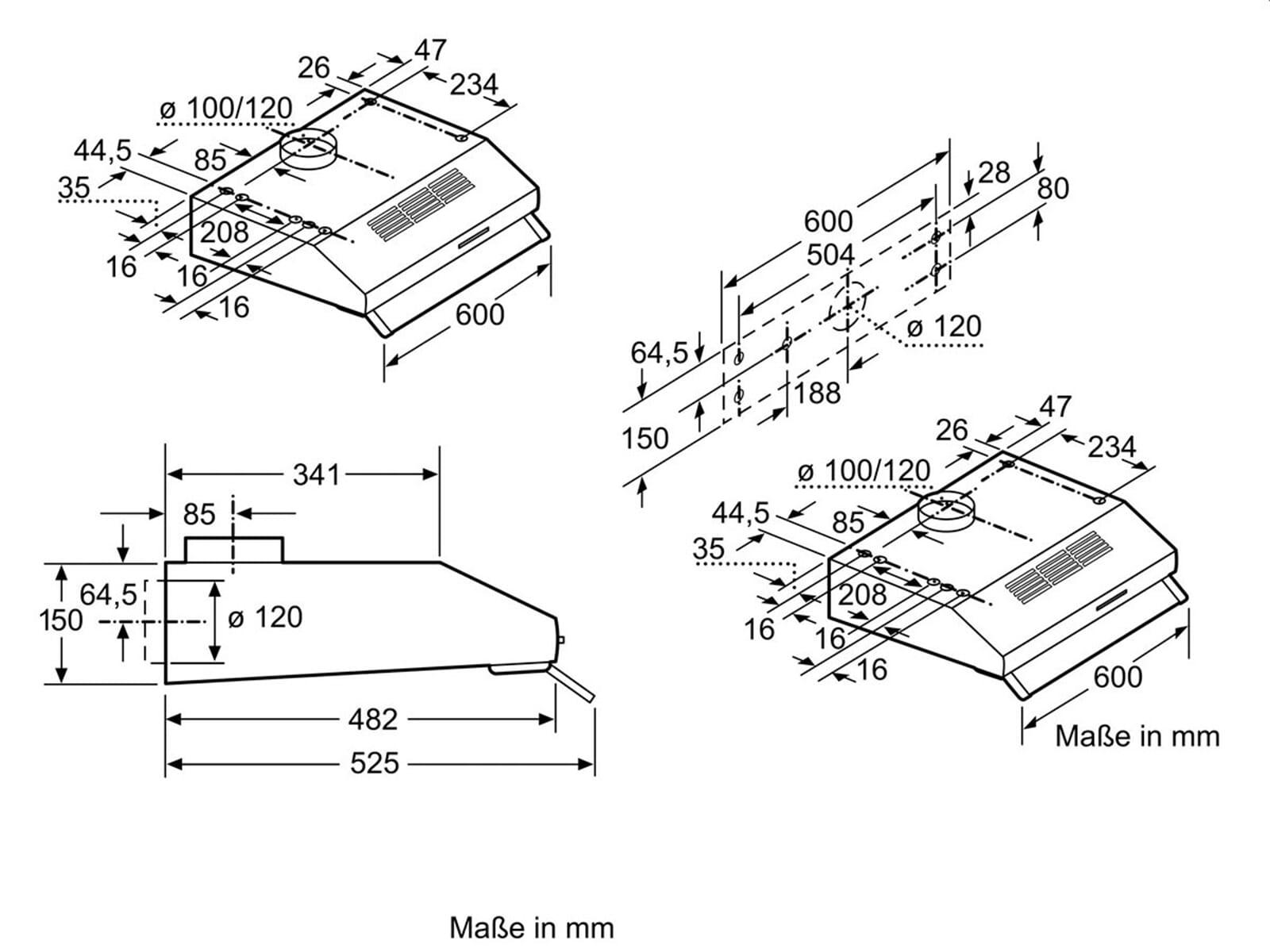 neff deb 1612 n unterbauhaube edelstahl. Black Bedroom Furniture Sets. Home Design Ideas