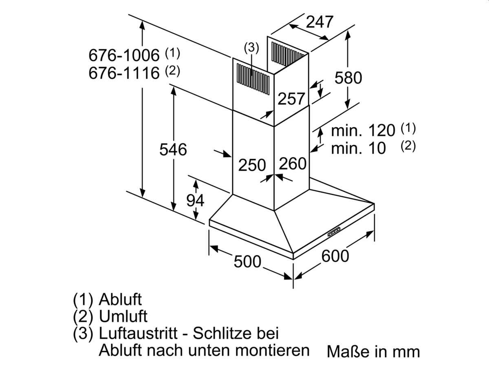 Neff DQBC620N Wandhaube Edelstahl