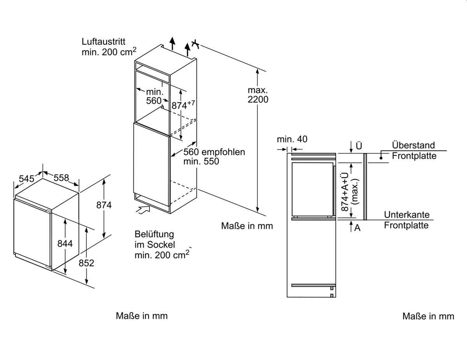 Neff K 235 A2 Einbaukühlschrank