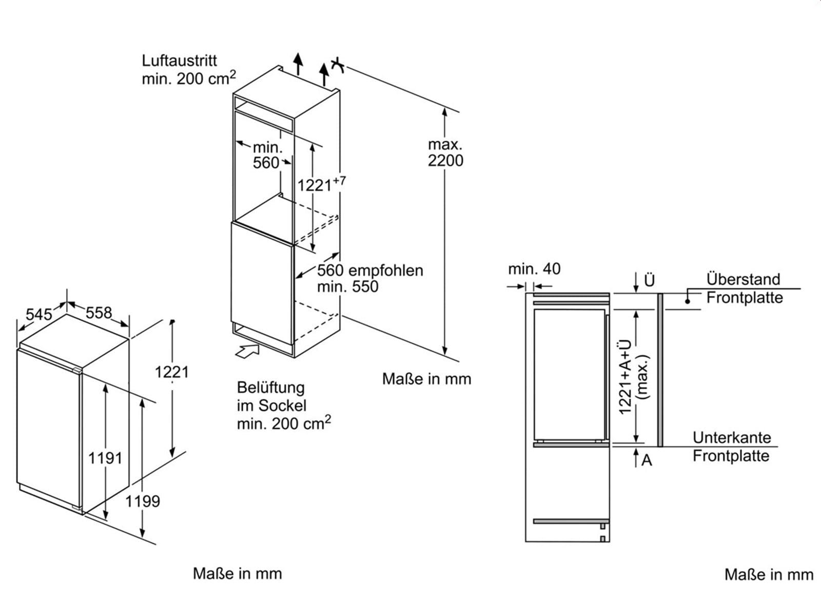 Neff K 446 A2 Einbaukühlschrank