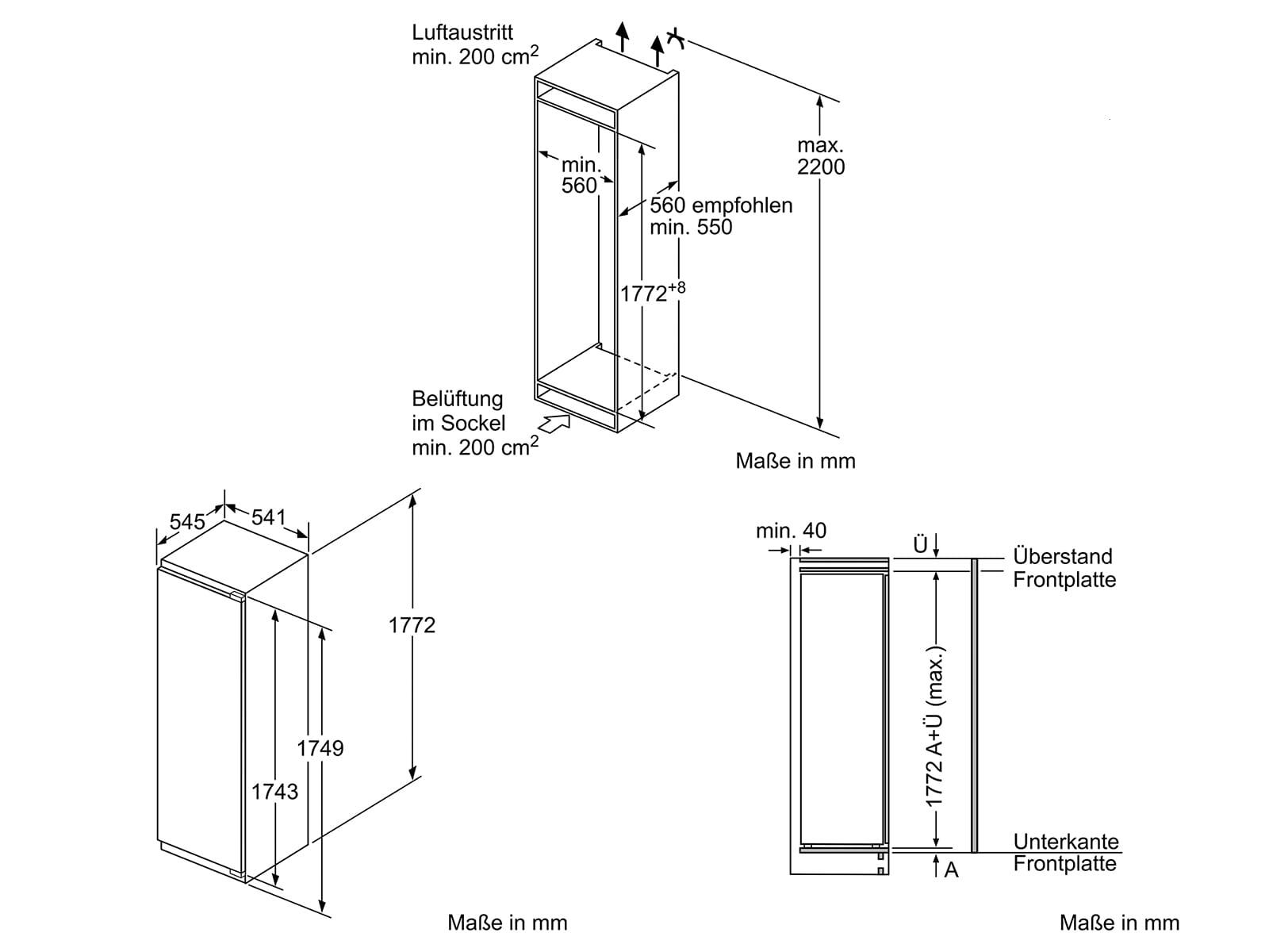 Neff K815A2 Einbaukühlschrank