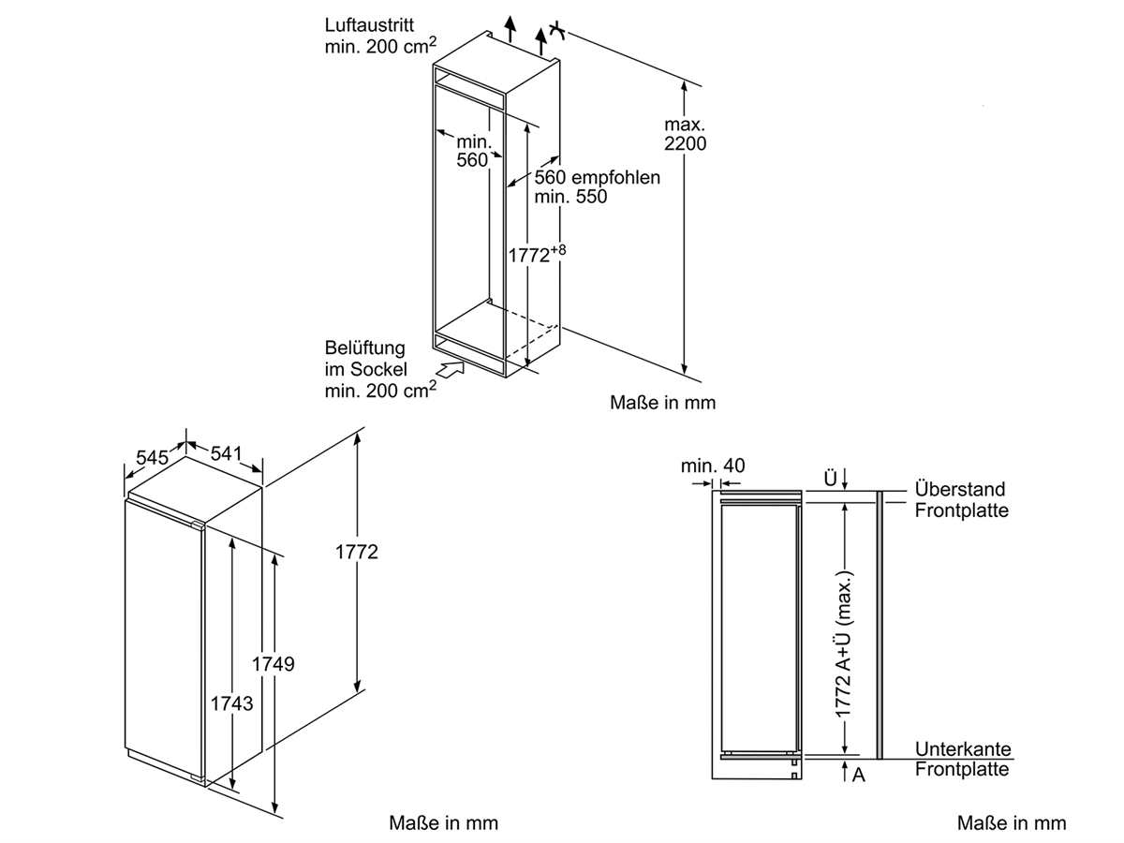 Neff K825A2 Einbaukühlschrank