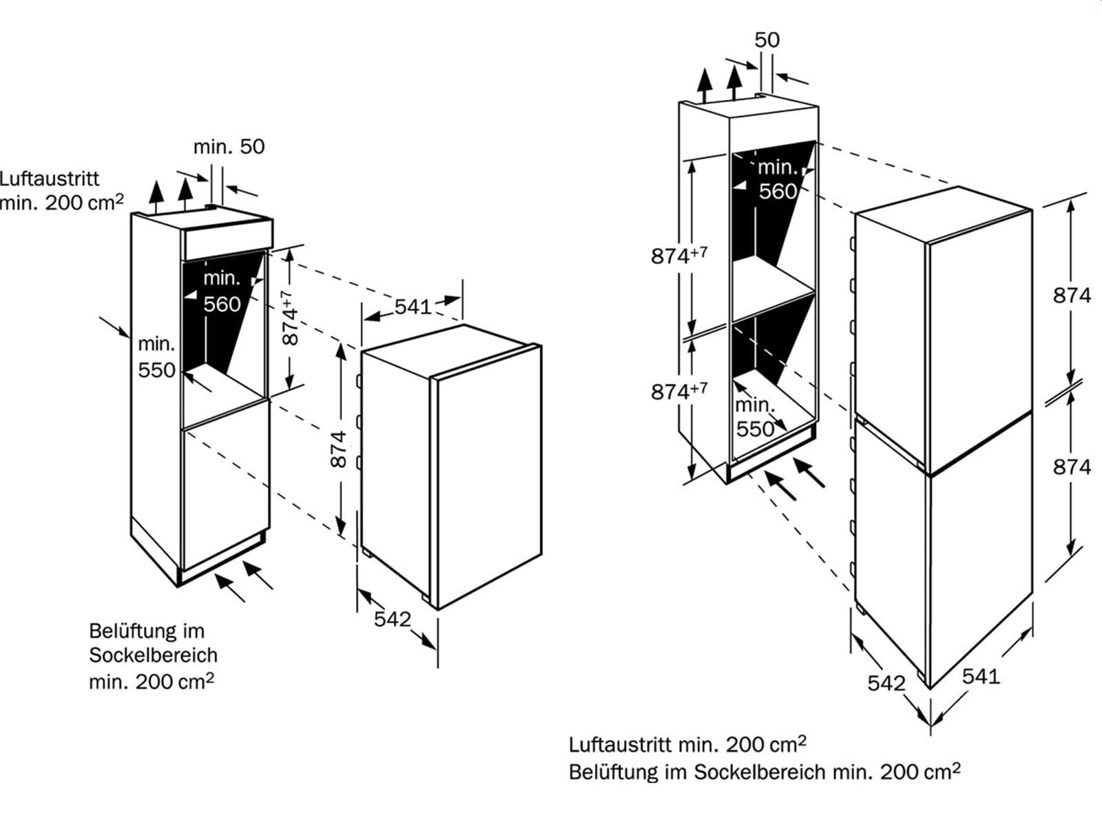 Neff K 225 A1 Einbaukühlschrank