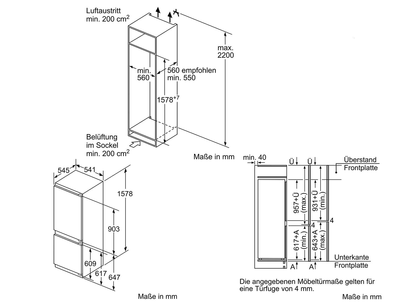 Neff KG615A2 Einbau-Kühl-Gefrierkombination