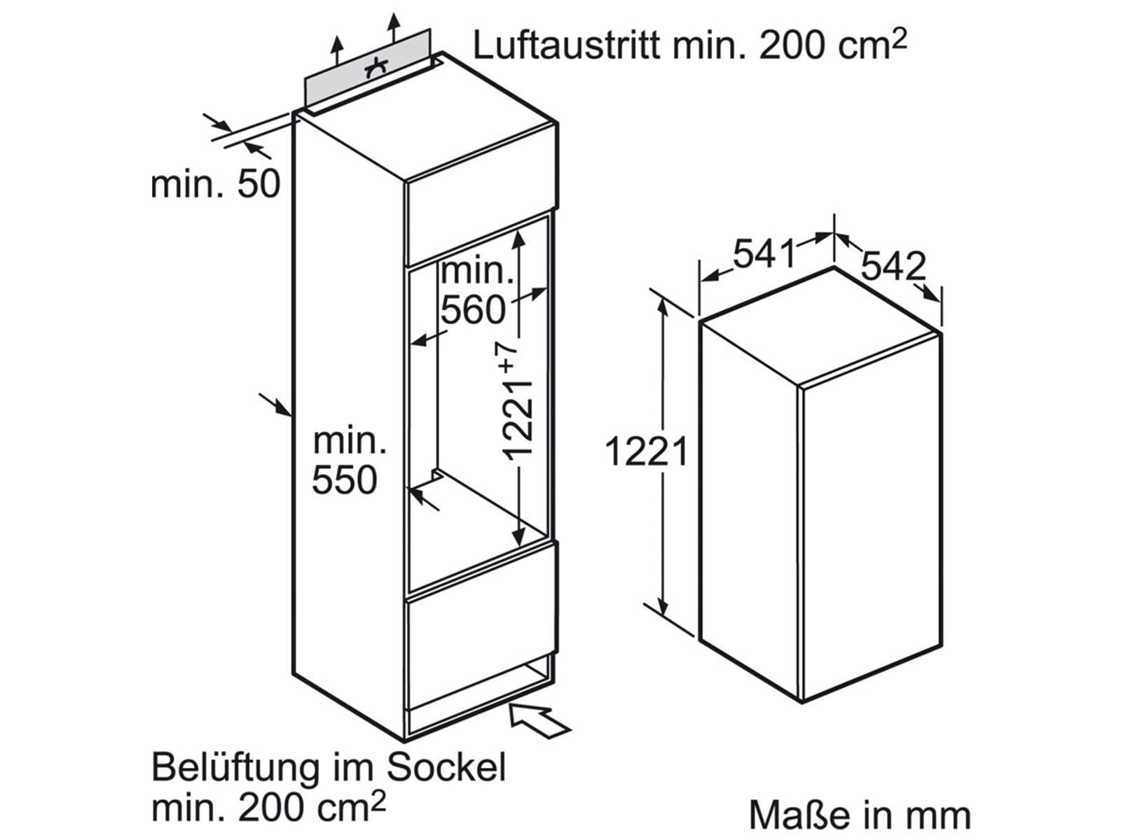 Neff K 425 A2 Einbaukühlschrank