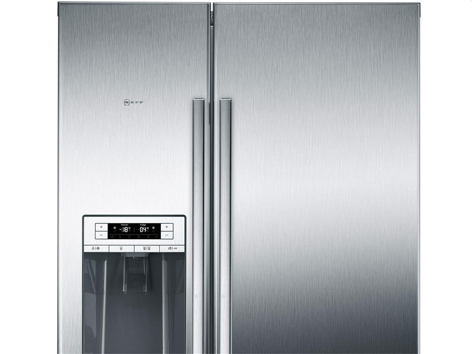 Neff Amerikanischer Kühlschrank Edelstahl : Neff ksa 788 a1 side by side kühl gefrier kombination edelstahl