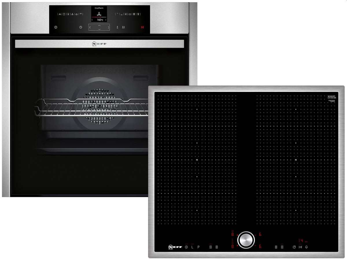 NEFF Pyr 613 Set Pyrolyse Backofen BCR 2522 N + Induktion...