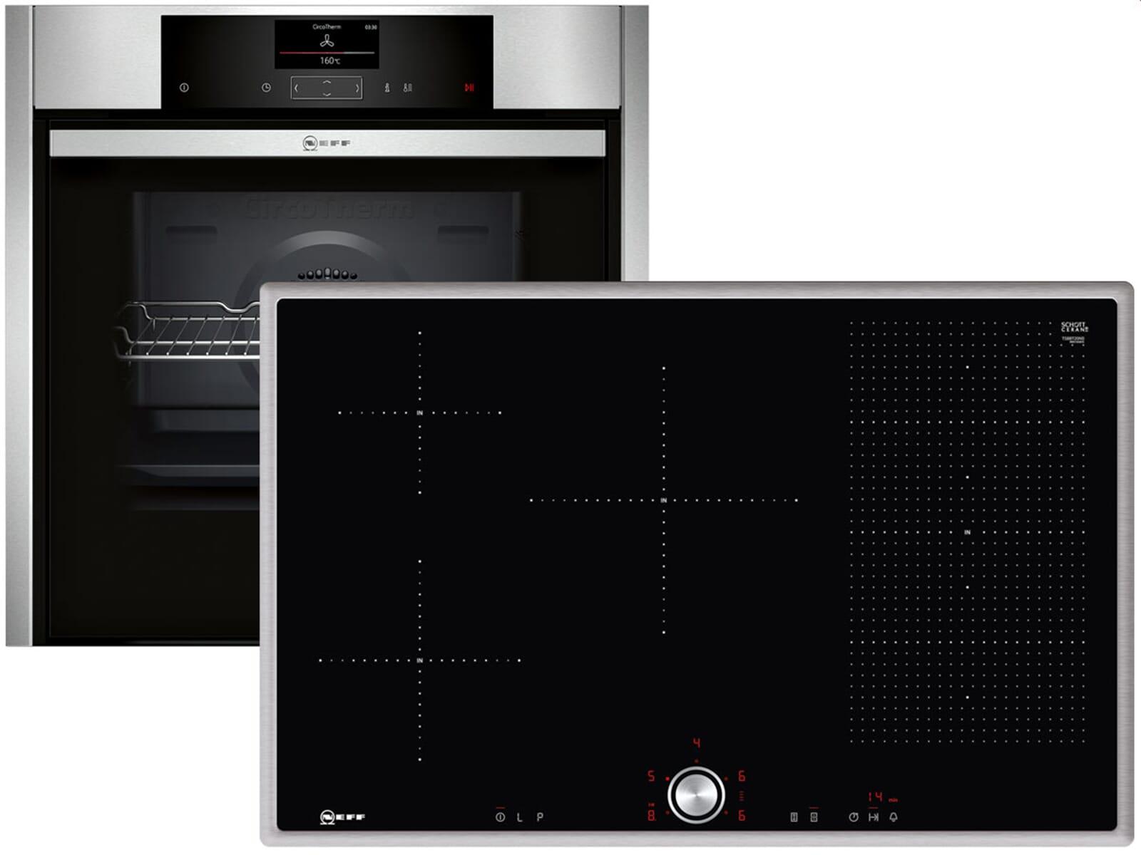 neff sh 8013 set backofen bcs 4524 n induktionskochfeld tbt 5820 n. Black Bedroom Furniture Sets. Home Design Ideas