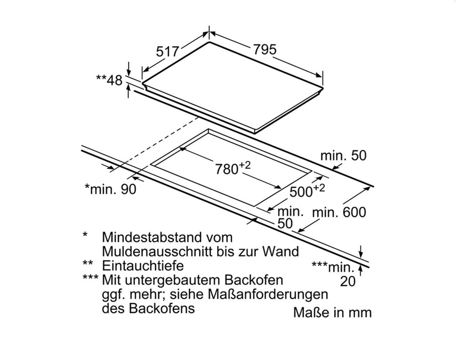Neff FS811 Set Backofen BFS 4524 N + Glaskeramikkochfeld TBT 1816 N