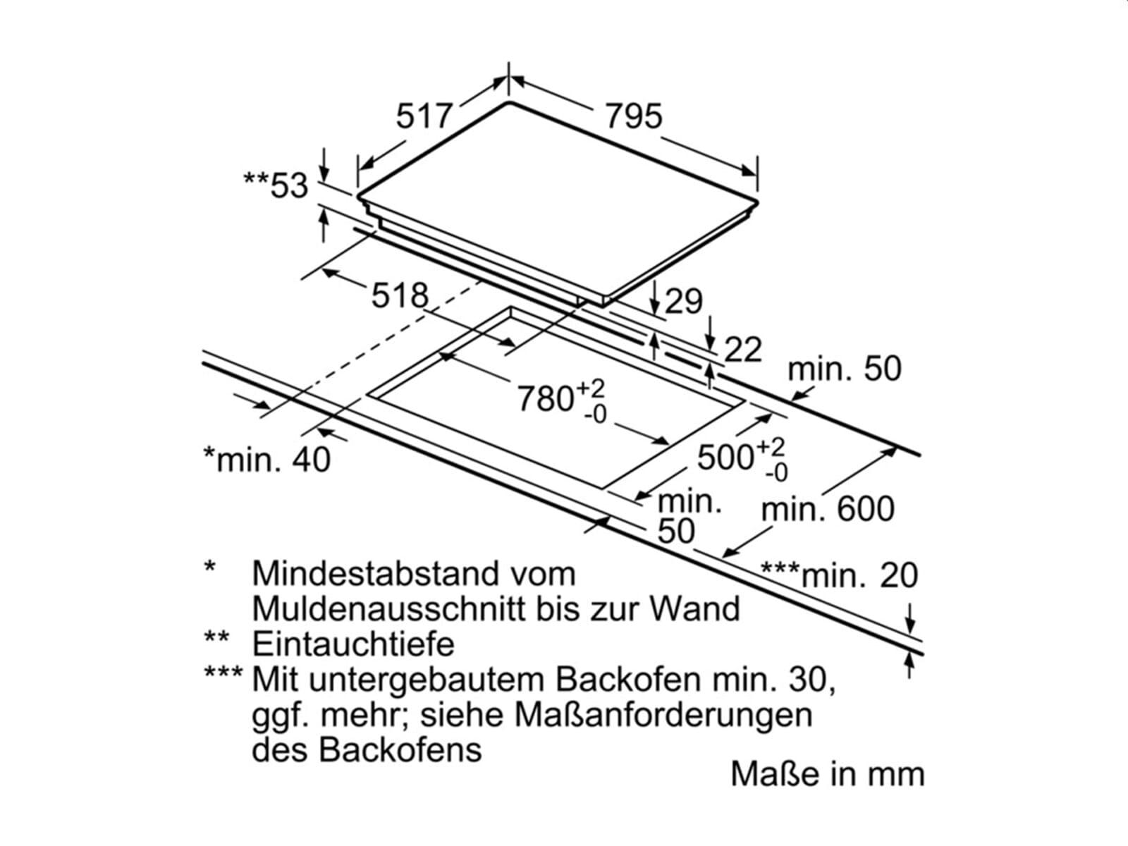 Neff FS8013 Set Backofen BFS 4524 N + Induktionskochfeld TBT 5820 N