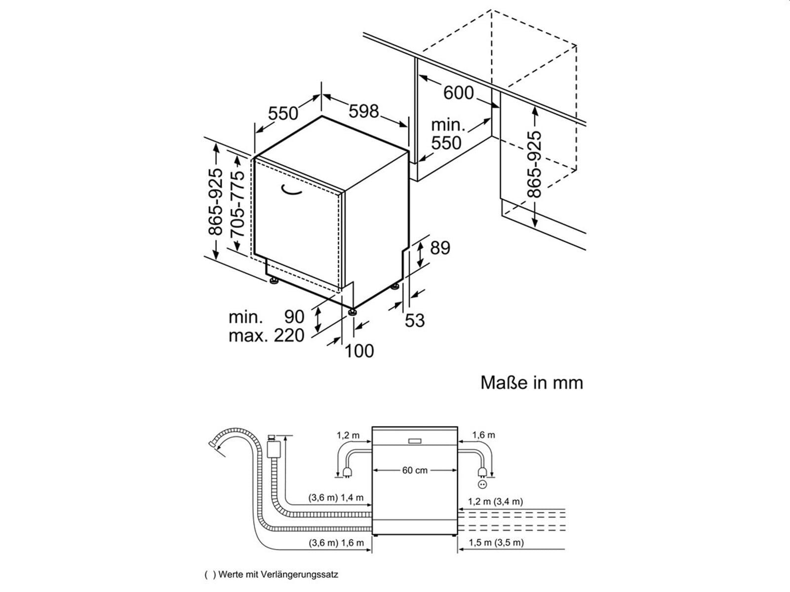 neff gx6801t vollintegrierbarer einbaugeschirrsp ler xxl. Black Bedroom Furniture Sets. Home Design Ideas