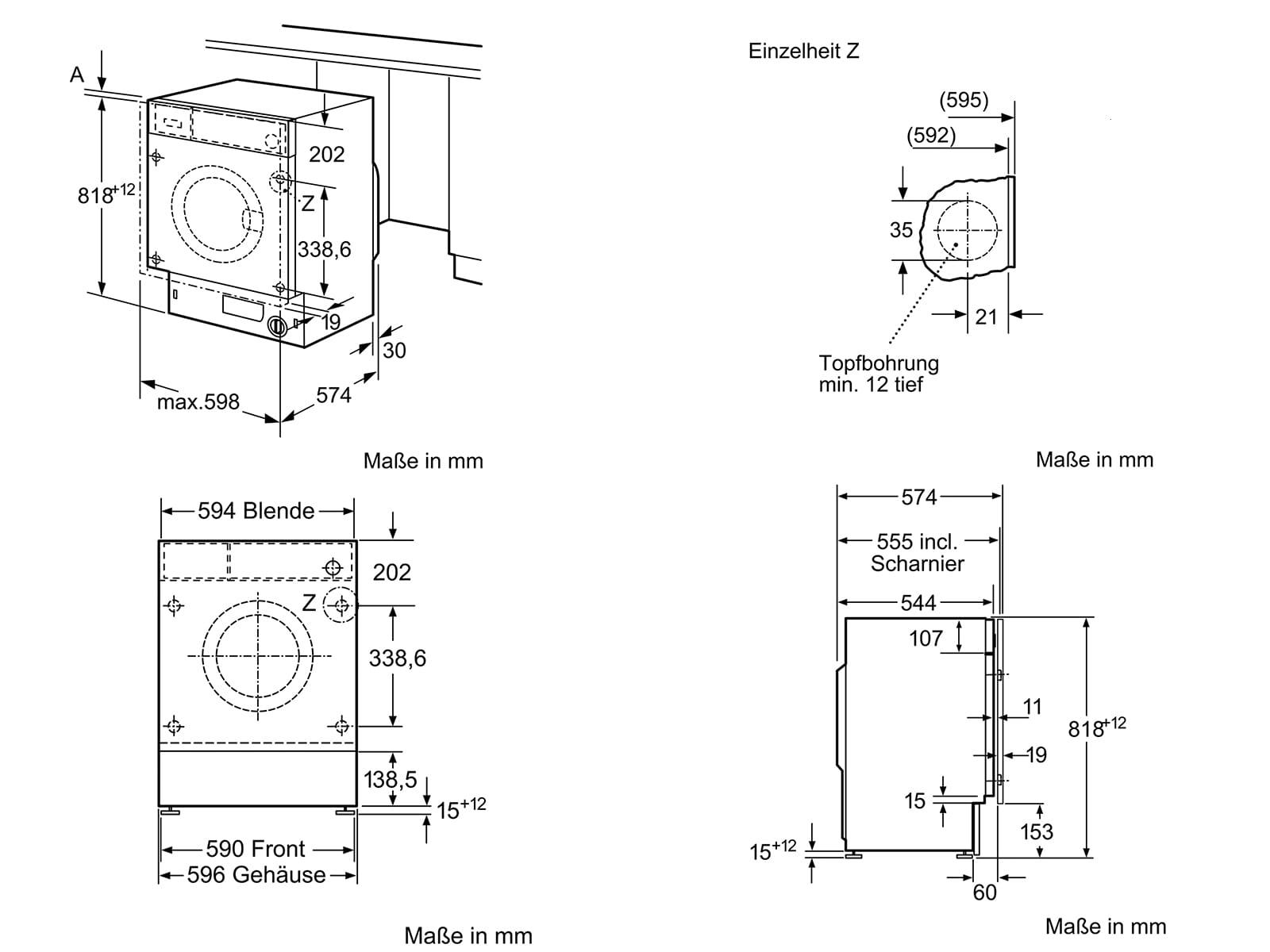 Neff WV644 Einbauwaschmaschine