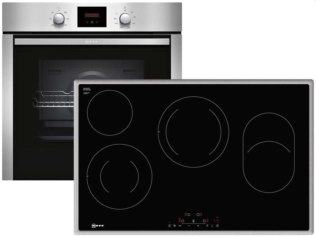 neff xb48 set backofen bcb1402 glaskeramikkochfeld tbd1836n. Black Bedroom Furniture Sets. Home Design Ideas