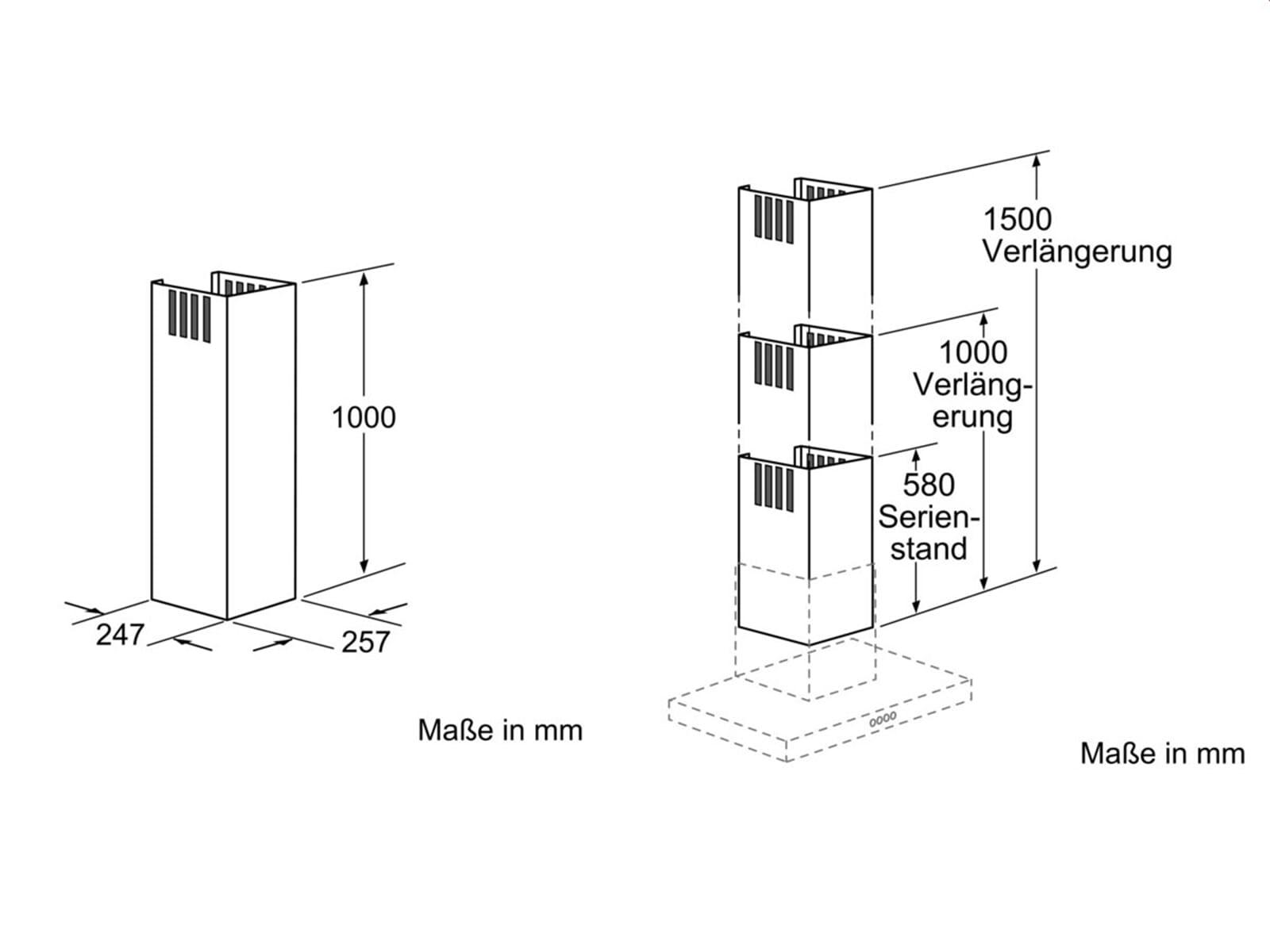 Neff Z5905N0 Kaminverlängerung 1000 mm