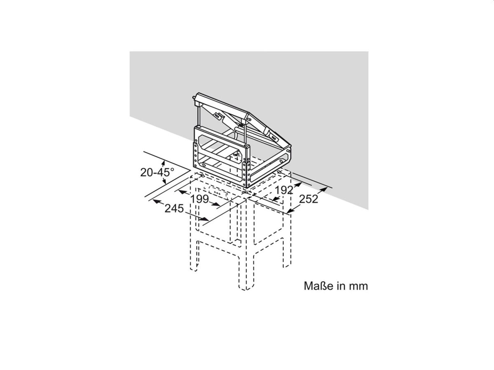 Neff Z5911X0 Adapter für Dachschrägen