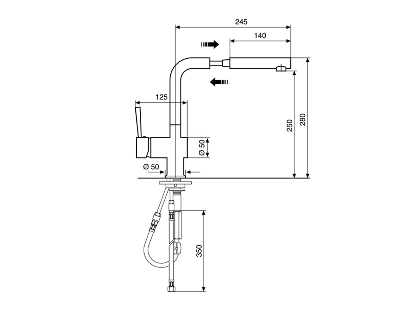 Xanthos Moonstone Hochdruckarmatur
