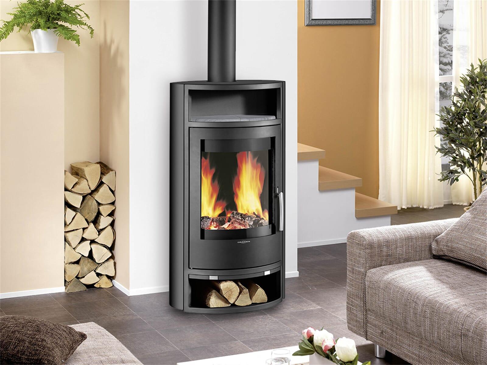 oranier polar 6 5446 11 kaminofen stahl schwarz. Black Bedroom Furniture Sets. Home Design Ideas