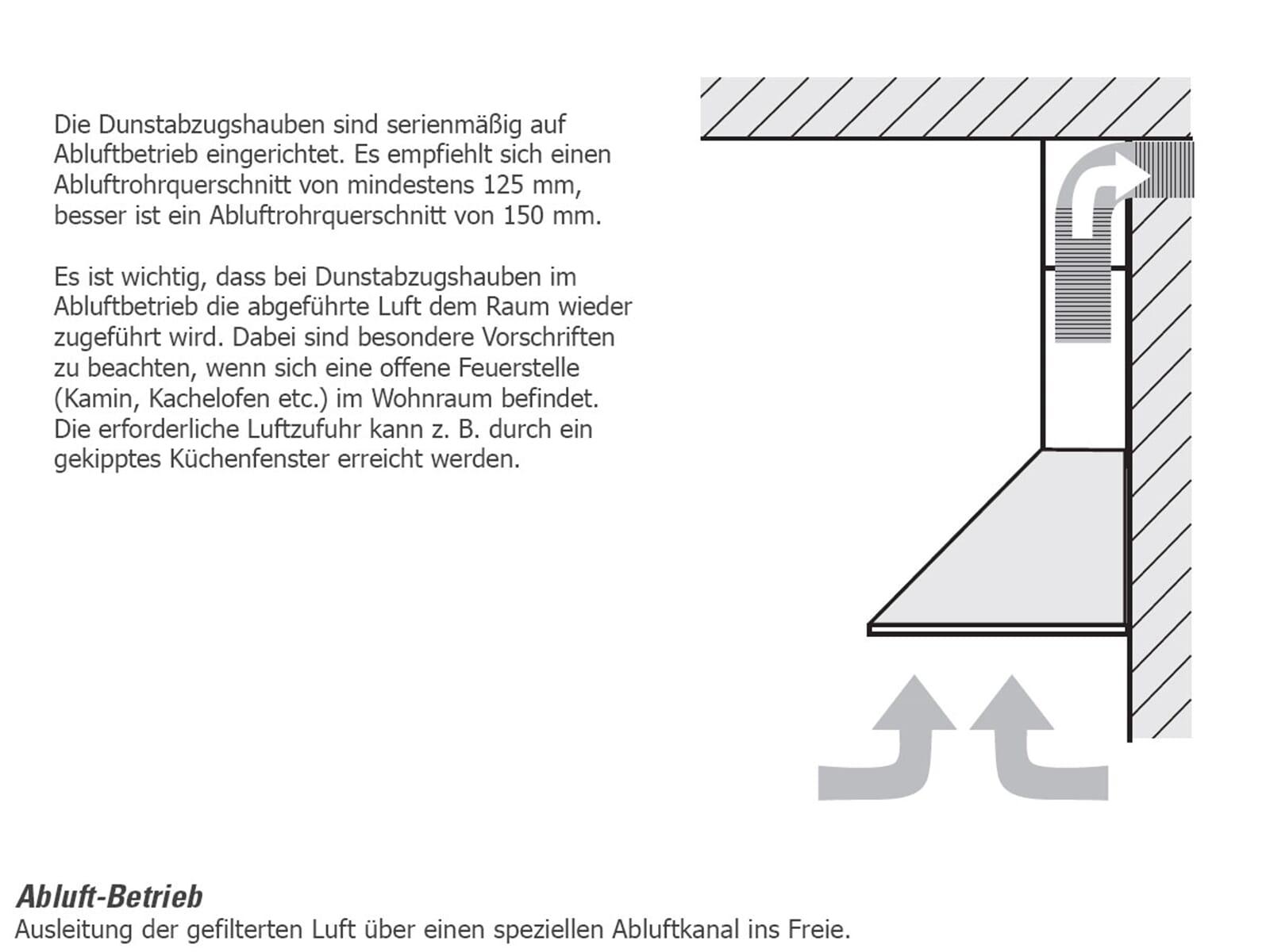 Oranier Lissero 80 E-A - 8806 11 Wandhaube Edelstahl