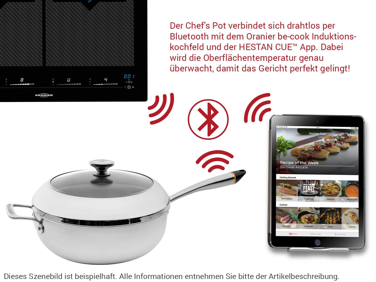 Oranier be-cook SET Chef's Pot 9209 26 + Pfanne 9209 25 + Grill-Platte 9209 11