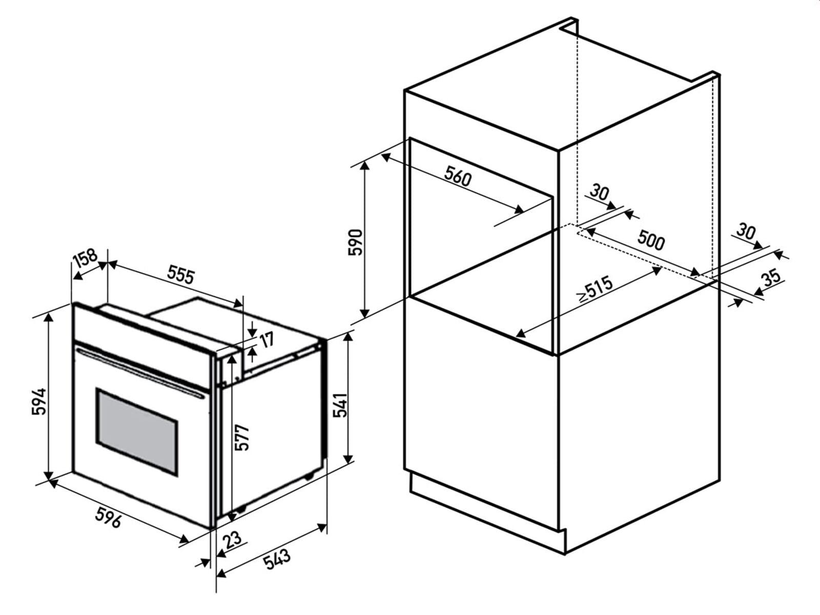 Oranier Clever-Set 11 Backofen EBS 9936 10 + Kochfeldabzug KXI 1092 70